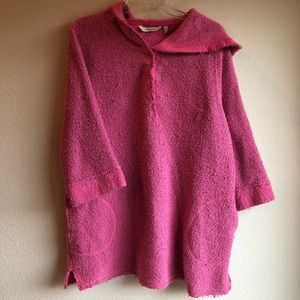 Soft Surroundings Pink Cozumel Pullover